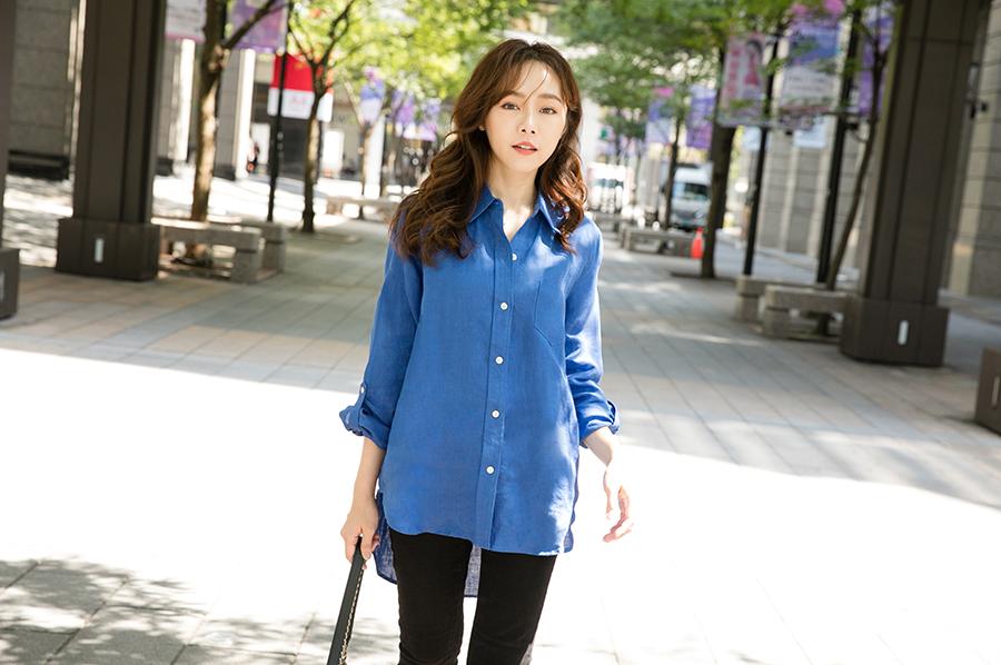 ibelle韓國直送100%歐洲亞麻襯衫