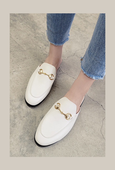 時尚馬銜釦手工穆勒鞋(手工鞋恕無到付,無退換貨)